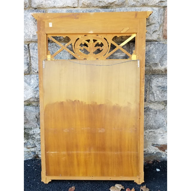 Gold Italian Neoclassical Empire Style Giltwood Large Mirror For Sale - Image 8 of 11