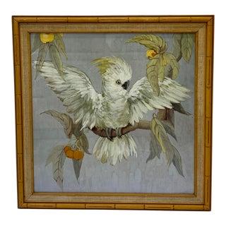 1950s Original Cockatoo Watercolor For Sale