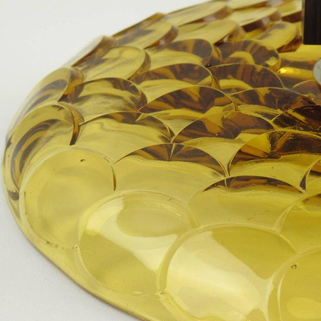 Chrome French Art Deco Yellow Glass Chrome Macassar Centerpiece Bowl For Sale - Image 7 of 8