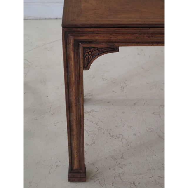 Henredon 1980s Chippendale Henredon Oak & Walnut End Table For Sale - Image 4 of 8