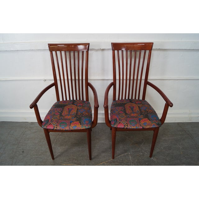 Mid Century Italian Spindle Back Dining Chairs - Set of 4 For Sale - Image 4 of 10