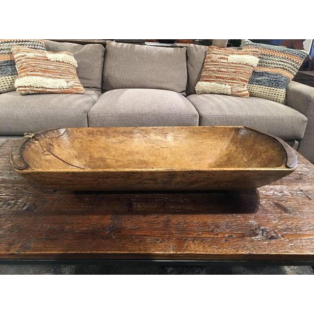 Antique Wooden Dough Bowl For Sale - Image 12 of 13