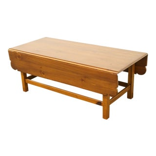 Late 20th Century Vintage Ethan Allen Country Craftsman Drop-Leaf Coffee Table For Sale