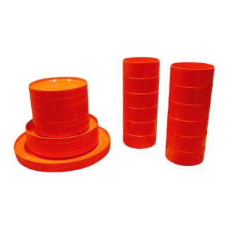 Heller & Vignelli Orange Mod Dinnerware