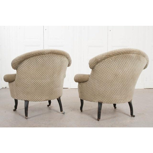 Pair of 19th Century English Upholstered Tub Chairs For Sale - Image 12 of 13