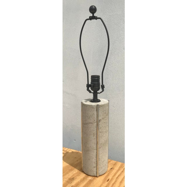 Modern Modern Doric Cement Table Lamp For Sale - Image 3 of 5