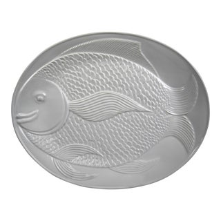 Portuguese Ceramic Fish Platter For Sale