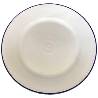Large White Ceramic Italian Faience Charger Platter For Sale