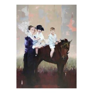 """""""Horseplay"""" Acrylic Painting on Canvas For Sale"""