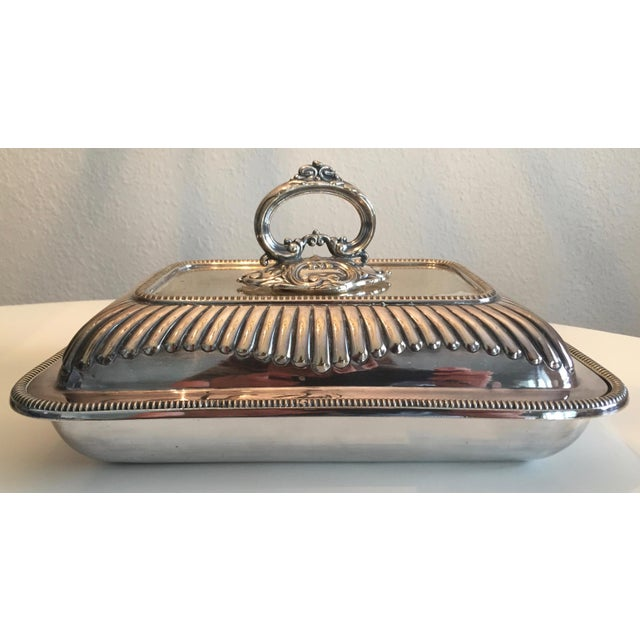 Mappin & Webb Antique Mappin & Webb English Silver Covered Vegetable Dish For Sale - Image 4 of 13