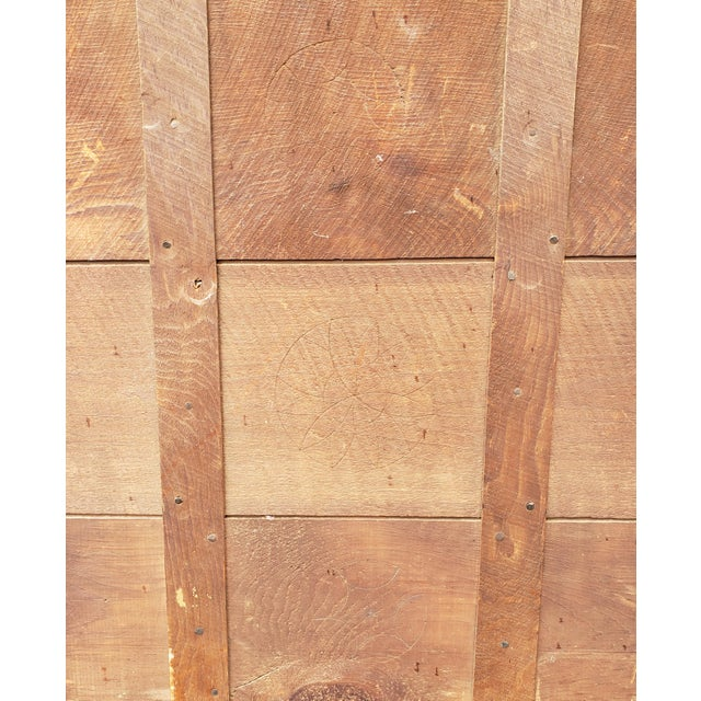 American Circa 1900 American Arts and Crafts Movement Mission Oak Wall Mirror For Sale - Image 3 of 4