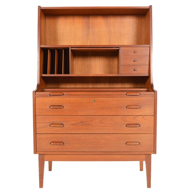 Danish Modern Secretary With Bookcase in Teak - Image 1 of 9