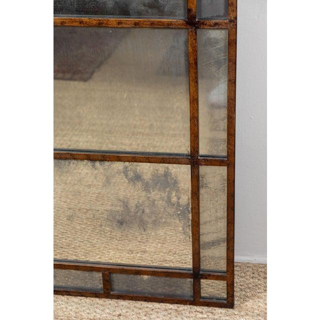 Boho Chic Vintage Smokey Mirrored Panel For Sale - Image 3 of 6