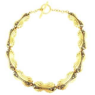 Classic Art Deco Style Fendi Logo Choker Necklace For Sale
