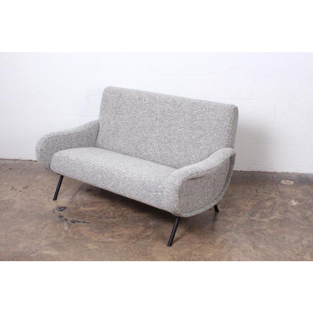 """Gray Marco Zanuso """"Lady"""" Settee For Sale - Image 8 of 8"""