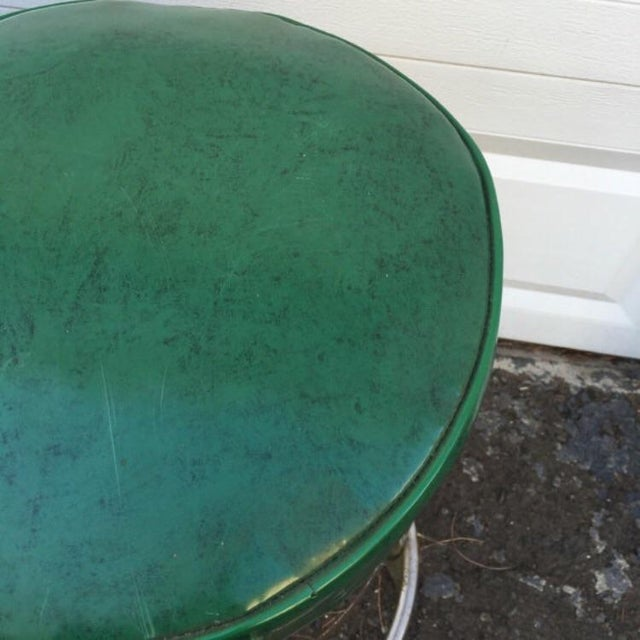 Vintage Retro Green Diner Stool - Image 4 of 4