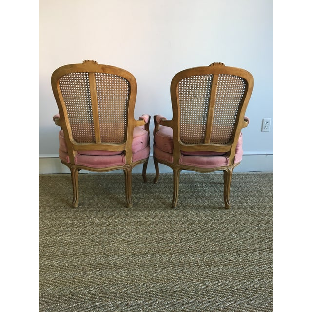 Vintage Fence Cain Bergere Chairs - A Pair - Image 3 of 5