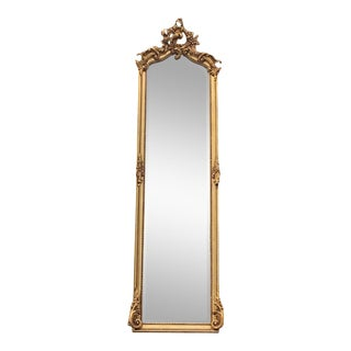French Rococo Style Mirror in Full Length For Sale