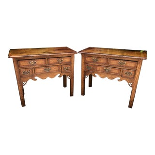 Pair of Charles & Charles 18th C Style Georgian English Night Stands For Sale