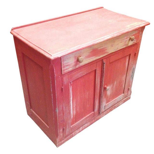 Red Painted Commode Chest - Image 1 of 7