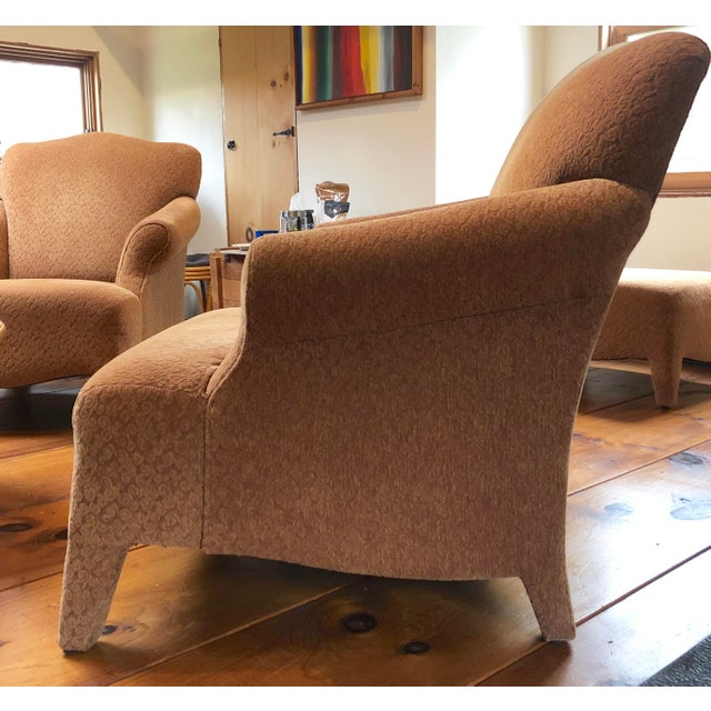 1990s Vintage John Hutton Style Club Chairs Pair For Sale - Image 12 of 13