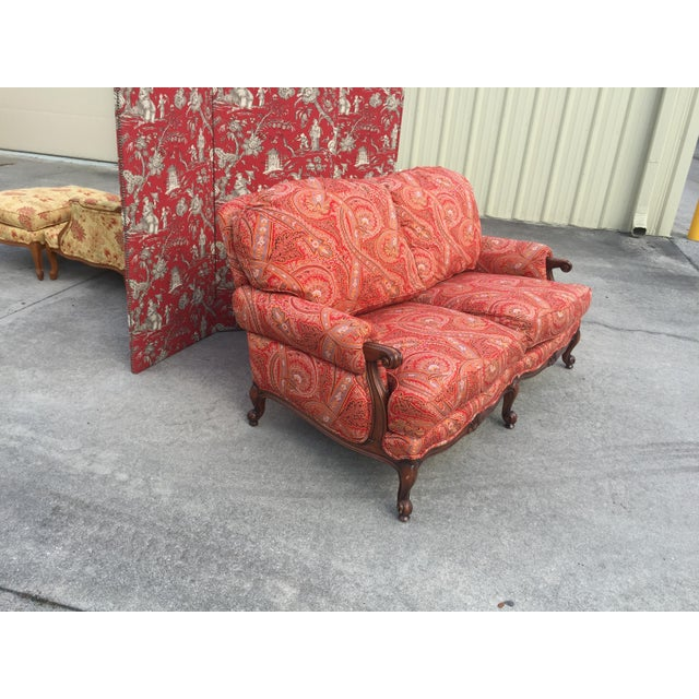 Modern French Style Loveseat For Sale - Image 6 of 8
