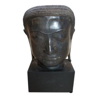 Iron Head Sculpture