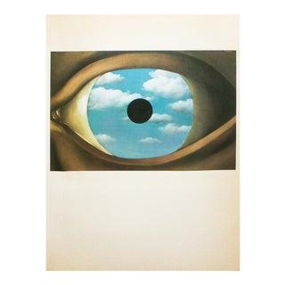 "1972 Rene Magritte, ""The False Mirror"" Original Photogravure For Sale"