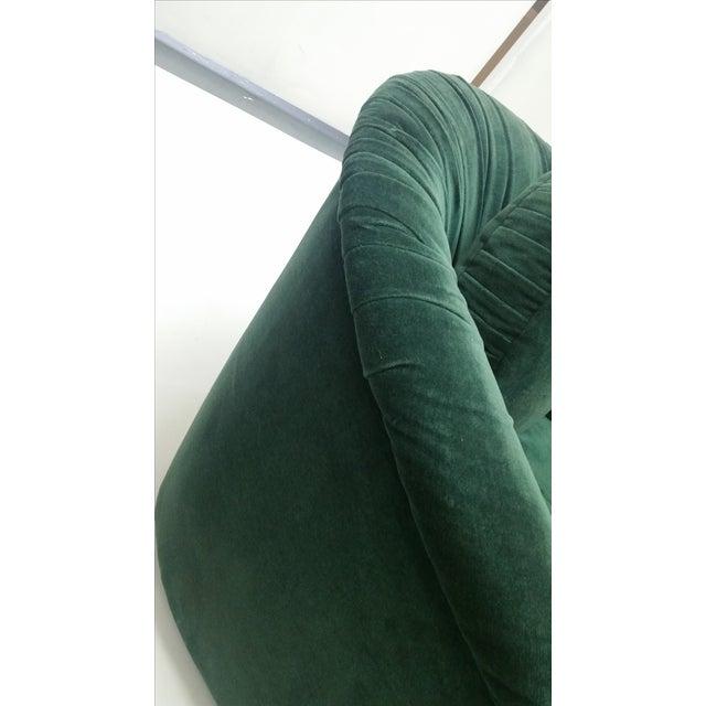 80's Rushed Velvet Swivel Chair - Image 5 of 6