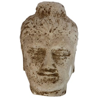 Early 20th Century Stone Buddha Head Sculpture For Sale