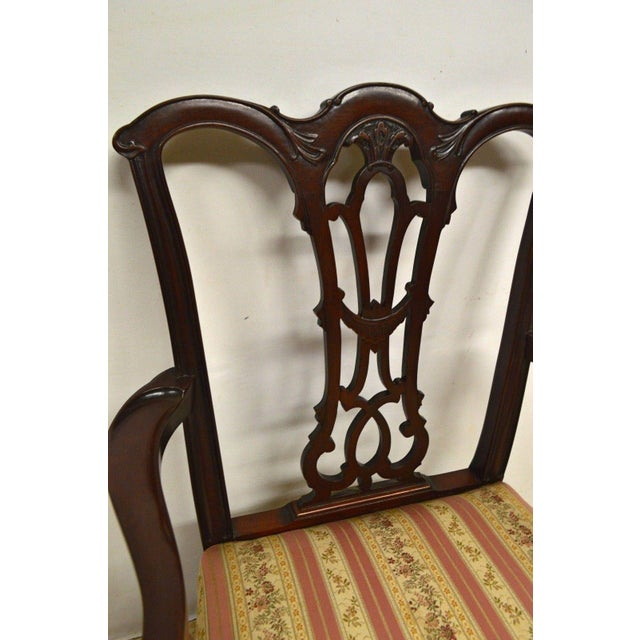 Solid Mahogany Chippendale Style Dining Chairs Ball & Claw Feet - Set of 6 For Sale - Image 11 of 11