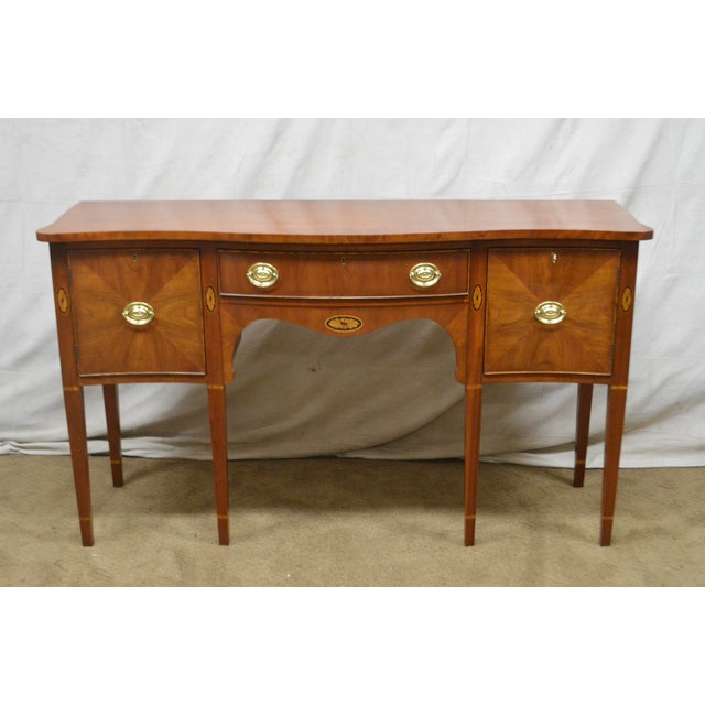 Statton Cherry Federal Style Serpentine Inlaid Sideboard For Sale - Image 10 of 13