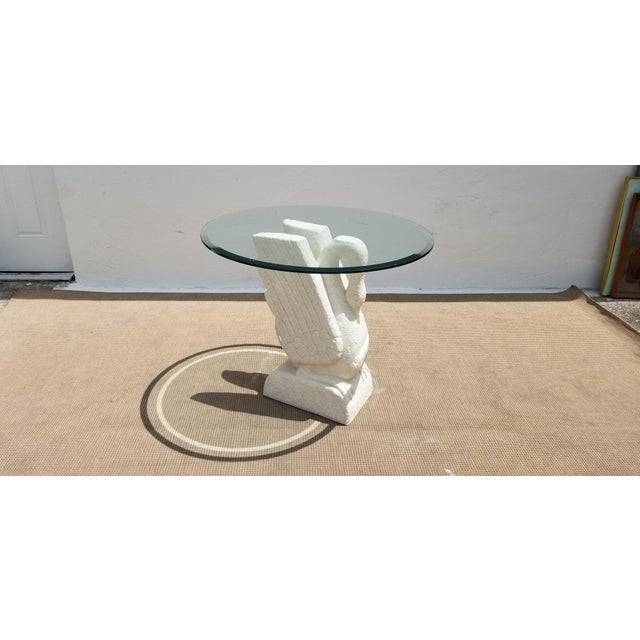 Sculptural Swan Shape Plaster Accent Table For Sale - Image 12 of 12