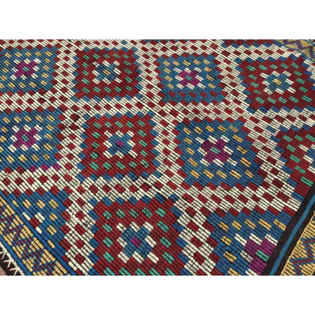 Vintage Turkish Kilim Rug For Sale - Image 4 of 9