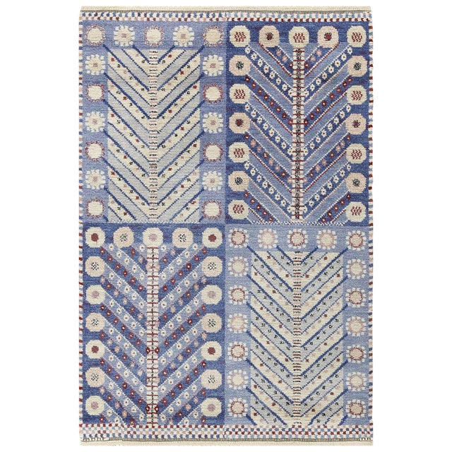 Vintage Scandinavian Marta Maas Marianne Richter Pile Rug - 4′8″ × 7′ For Sale - Image 11 of 11