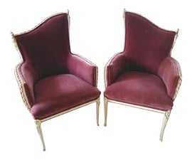 Image of Powder Room Bergere Chairs