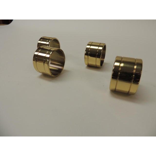 Ralph Lauren Set of '4' Solid Brass Ralph Lauren Ribbon Napkin Holders For Sale - Image 4 of 5