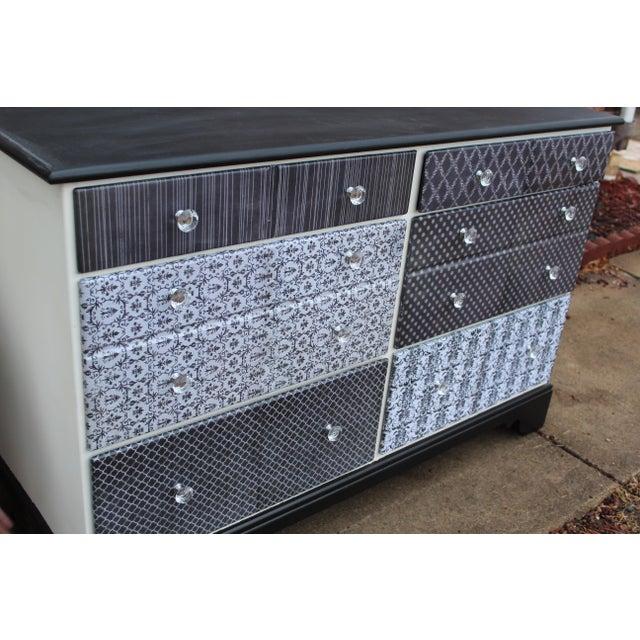 Shabby Chic Black & White Six-Drawer Dresser - Image 3 of 5
