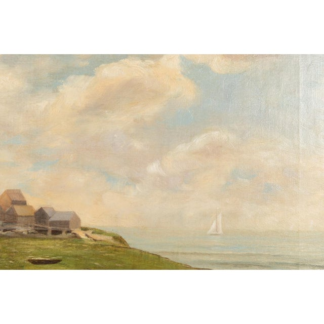 19th-Century Sea Shore Landscape - Image 7 of 10