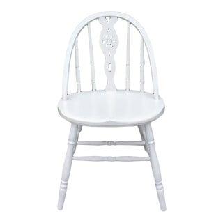 1940s Vintage Farmhouse White Accent Chair For Sale