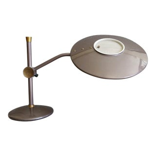1950s Dazor Modern Space Age Flying Saucer Desk Lamp For Sale