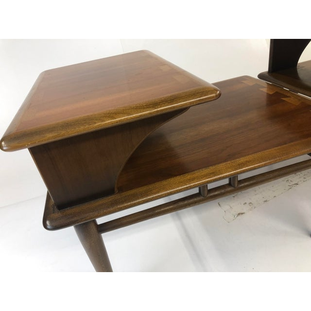 1960s Vintage Mid Century Modern Step Tables - a Pair - Acclaim by Lane Furniture For Sale - Image 5 of 13
