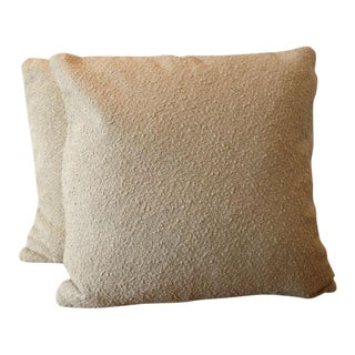 Italian Wool & Linen Boucle Pillow Covers - a Pair For Sale