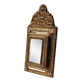 19th Century French Napoleon III Repoussé Copper Mirror For Sale