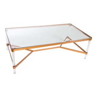 Mireille Acrylic Coffee Table For Sale