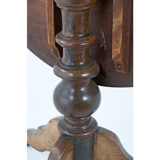 Wood Circa 1850 Swiss Walnut Tilt Top Tea Table For Sale - Image 7 of 11