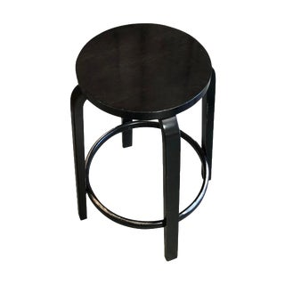 Mid-Century Modern Aalto Manufactured for Artek Wooden Bar Stool