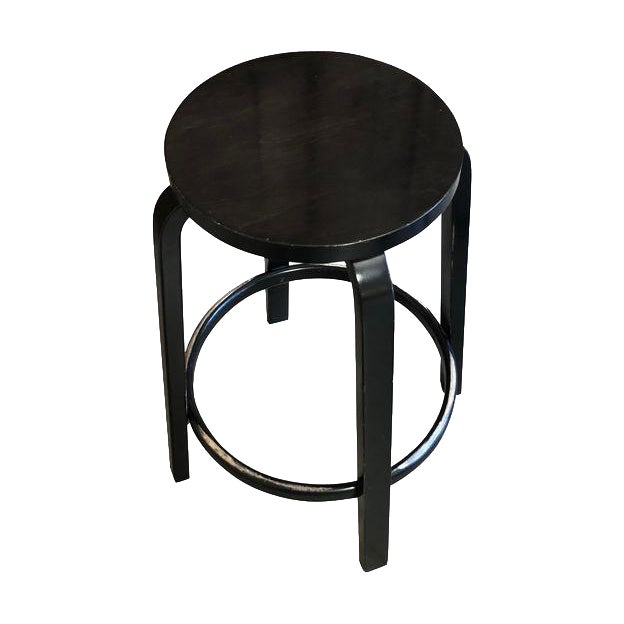 Mid-Century Modern Aalto Manufactured for Artek Wooden Bar Stool For Sale