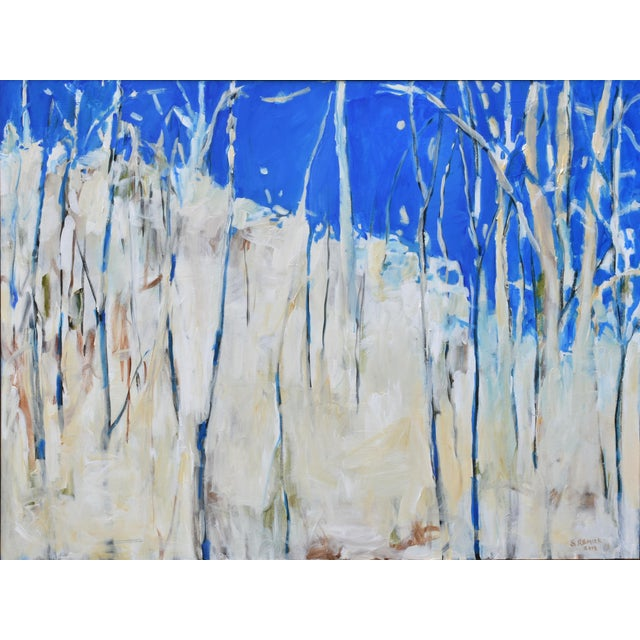 """Abstract Painting, """"Have You Ever Seen a Sky So Blue"""", by Stephen Remick For Sale - Image 10 of 10"""