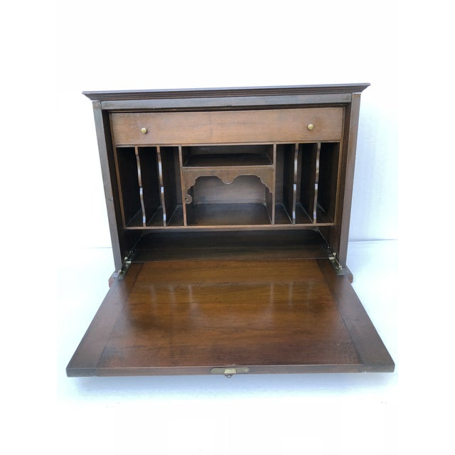 Antique Desk with Key This is a small desk. Most like was in use on a counter like in a hotel. Could be put on top of a...